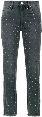 Isabel Marant Ulano Swarovski crystal embellished straight jeans