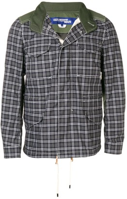 Junya Watanabe checked patchwork jacket