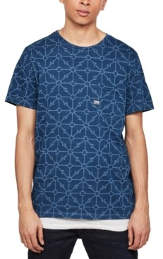 G Star Men's Geometric Print T-Shirt, Created for Macy's