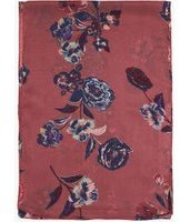 Dorothy Perkins Womens Pink Etched Floral Chiffon Scarf- Pink