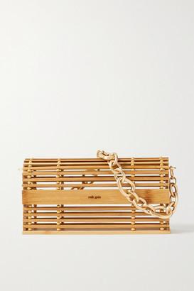 Cult Gaia Sylva Chain-embellished Bamboo Shoulder Bag - Sand