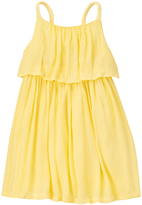 Crazy 8 Pale Banana Crinkle Gauze Tiered Dress - Infant & Toddler