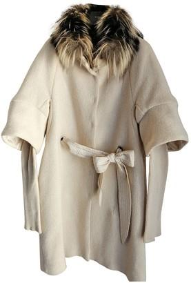 Brunello Cucinelli White Fur Coat for Women