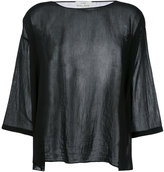 Forte Forte flared blouse - women - Silk/Cotton - 0