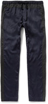 Dries Van Noten Piers Slim-Fit Satin and Cotton-Canvas Trousers