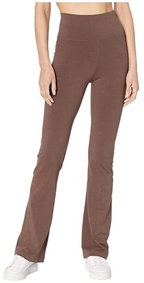 Hard Tail Rolldown Bootleg Flare Pants (Mocha) Women's Casual Pants