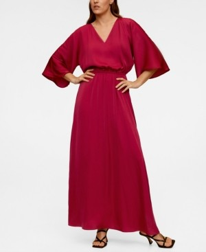 MANGO Elastic Waist Long Dress