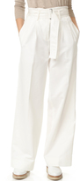 DKNY PURE Wide Leg Pants with Belt