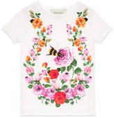 Gucci Children's flowers and bees t-shirt