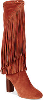 INC International Concepts Women's Tolla Tall Fringe Boots, Only at Macy's