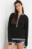 Forever 21 FOREVER 21+ Defend Paris Fleece Sweatshirt