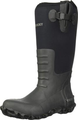 Rocky Men's Core Black Rubber Waterproof Outdoor Boot Knee High