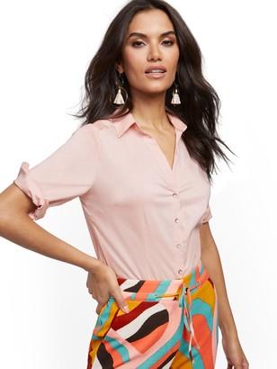 New York & Co. Petite Madison Stretch Shirt - Secret Snap - 7th Avenue
