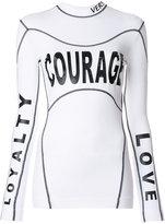Versace Courage Loyalty Love top