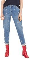 Topshop Women's Hayden Embellished Boyfriend Jeans