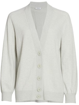 Akris Punto Oversized Tonal Back Stripe Cardigan