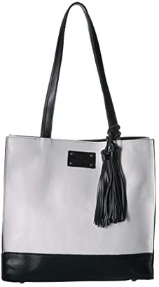 Patricia Nash Veg Tan Color Block Toscano Tote (Black/White) Tote Handbags