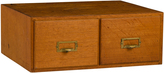 Rejuvenation Classic 2-Drawer Oak Card Catalog c1935