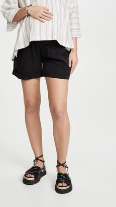 Ingrid & Isabel Elastic Waist Maternity Shorts