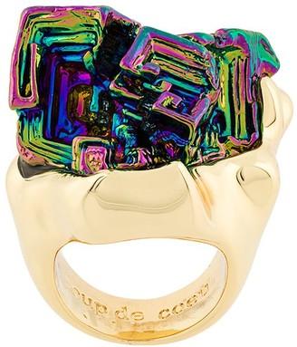 Coup De Coeur Vortex Rainbow Stone ring