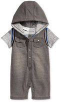 First Impressions 2-Pc. T-Shirt & Hooded Shortall Set, Baby Boys (0-24 months), Only at Macy's
