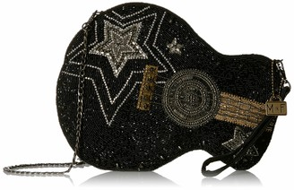Mary Frances Superstar Beaded Guitar Crossbody Handbag