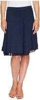 Three Dots Linen Jersey Chiffon Trimmed Skirt Women's Skirt