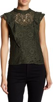 Romeo & Juliet Couture Layered Lace Woven Top
