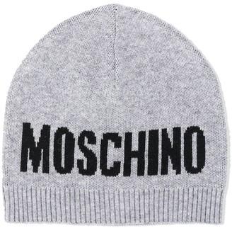 MOSCHINO BAMBINO Knitted Logo Hat