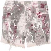 Faith Connexion paint-splattered denim shorts