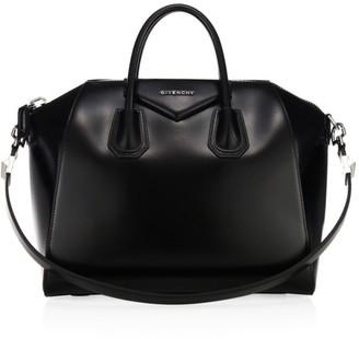 Givenchy Medium Antigona Glazed Leather Satchel