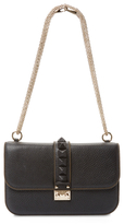 Valentino Garavani Rock Lock Medium Leather Shoulder Bag