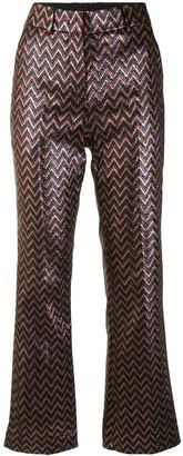 M Missoni Zigzag Pattern High-Waisted Trousers