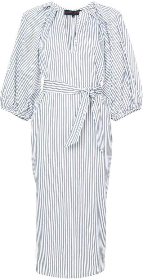 Martin Grant striped midi shirt dress