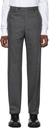Helmut Lang Grey Flannel Pinstripe Trousers