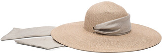 Eugenia Kim Bunny Floppy Sun Hat w/ Pull-Though Scarf