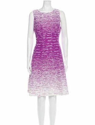 Oscar de la Renta 2015 Knee-Length Dress Purple