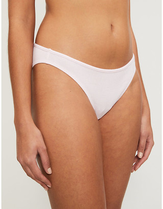 Les Girls Les Boys Ribbed low-rise stretch-cotton briefs pack of three