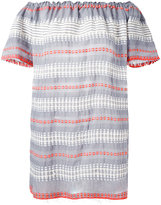 Lemlem striped off-shoulder dress - women - Cotton - S