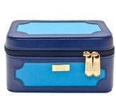 S.O.H.O New York Blue Colorblock Medium Makeup Organizer Box