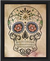 PTM Images Flower Power Skull Framed Print