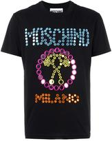 Moschino mirror embroidered logo T-shirt - men - Cotton - XS