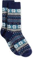 Hue Fair Isle Striped Boot Socks