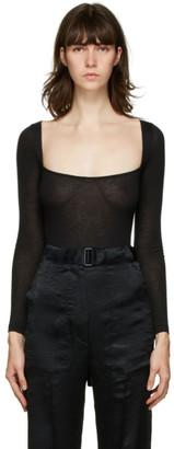 Ann Demeulemeester Black Yves Square Neck Wool Bodysuit