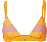Solid & Striped Morgan Coral Stripe Bikini Top