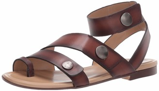 Naturalizer Womens Tassy Lodge Brown Ankle Strap Flat Sandal 10 W