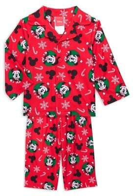 AME Sleepwear Baby's Part of Family 2-Piece Mickey Mouse Pajama Top & Pants Set