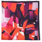 Ella Impressions - Deep Scarlet Silk Satin Pocket Square