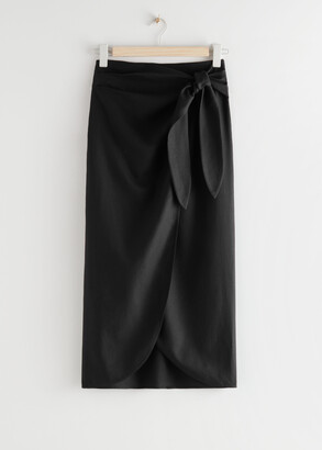 And other stories Scarf Tie Maxi Wrap Skirt