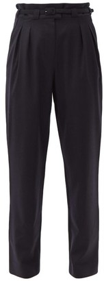 A.P.C. Joan High-rise Wool Trousers - Navy